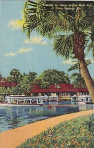 Florida Silver Springs Starting On Glass Bottom Boat Trip At Silver Springs