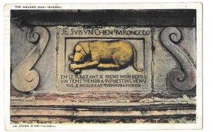Chien D'Or Golden Dog Vintage Quebec Canada Librairie Gatneau Postcard