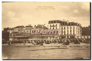 Old Postcard Dinard The Beach