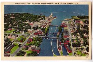 Oswego River, Canal Locks & Harbor, Oswego NY