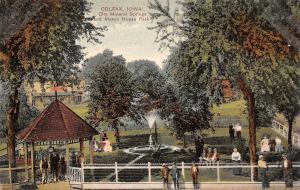 Colfax IA City Mineral Springs~Men Under Gazebo~Mason House Fountain c1910