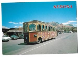 The Sedona Trolley in Sedona Arizona Runs Between Resorts 4 by 6