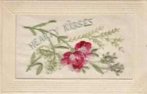 Hand Sewn, 1900-10s; Hearty Kisses, pink roses