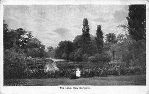 Vintage 1916 Postcard LONDON The Lake Kew Gardens by Gale & Polden Ltd