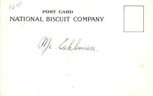 Advertising Post Card Uneeda Biscuit, National Biscuit Company Crackers on or...