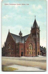 Denver, CO - Central Presbyterian Church - c1910 Postcard