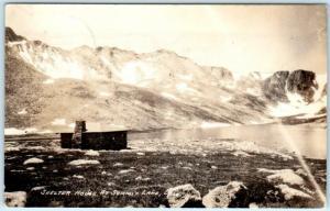 SUMMIT LAKE, Colorado  CO    SHELTER HOUSE  Sanborn  E-9  1944    Postcard