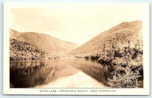 Postcard NH Echo Lake Franconia Notch RPPC Bromley Real Photo