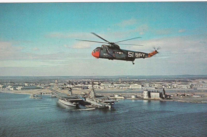 QUONSET POINT , Rhode Island , 1950-60s ; Naval Air Station , Helicopter