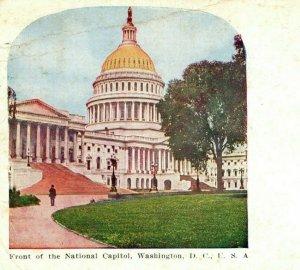 National Capitol Washington DC Front Columbia City 1909 Vintage Antique Postcard