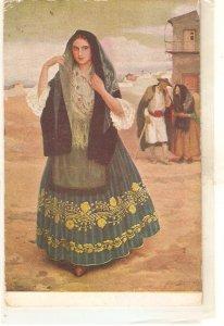 Medina Vera. Spanish Lady. La Fuensantica Fine painting, vintage Spanish PC