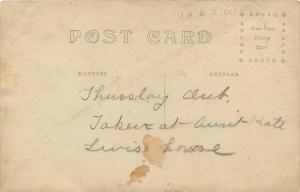 Real Photo Postcard~Thursday Lady's Club Meeting~Taken @ Aunt Kate's House~c1919