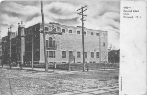 Elizabeth New Jersey~Edward Clark Club Corner Street View~1905 B&W Postcard
