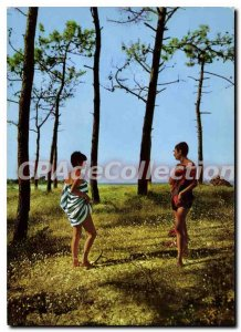 Postcard Modern Ile De Re Le Bois De Kit Shirt Des Portes De La Greve In Long