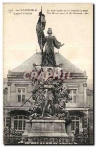 Postcard Old Saint Dizier The Monument of the 1544 Defense Joan of Arc