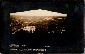 RPPC View of Washington DC from Inside Washington Monument c1910 Postcard U29