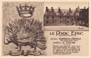 Le Porc Epic, Cominus Eminus, Embleme de Louis XII, Le Chateau, Loir-et-Cher,...
