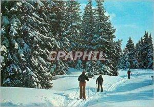 Modern Postcard The joys of skiing