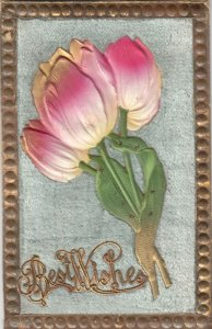 Best Wishes , Tulip Flowers, 1900-10s