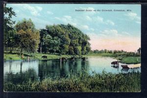 Summer Scene on the Crawfish River,Columbus,WI