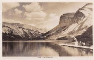 RP, British Columbia, Canada, 20s-30s; Steamship on Lake Minnewanka
