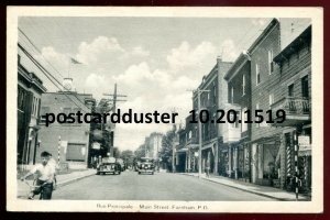 1519 - FARNHAM Quebec Postcard 1930s Main Street. Stores by PECO