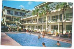 Fort Lauderdale FL Merrimac Hotel Motel 1967 Swimming Pool