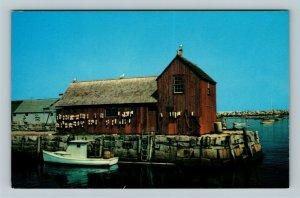 Rockport MA, Motif Number One, Harbor, Chrome Massachusetts Postcard