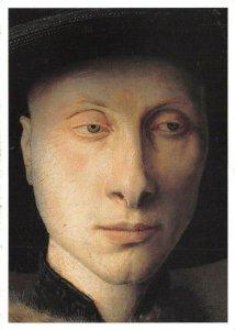 Art Postcard, A Detail from the Arnolfini Portrait by Jon Van Eyck BA4