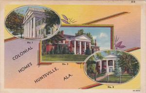 Alabama Huntsville Three Colonial Homes Curteich