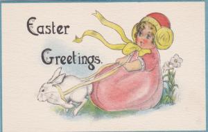 EASTER : Girl in Easter Dress , 00-10s 3/6