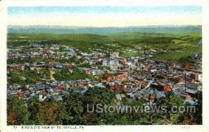 Pottsville, Pennsylvania, PA, Post Card Pottsville PA Unused