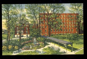 Charlotte, North Carolina/NC Postcard, Mercy Hospital Of Nursing, Rear View