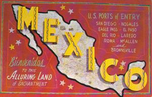 Map Of Mexico Wth U S Ports Of Entry