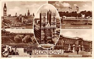 London, Horse Guards Parade Buckingham Palace, Tower River Thames Abbey 1953