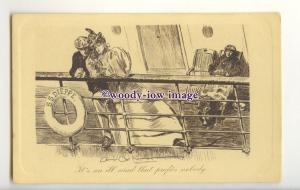 su3485 - It's an Ill Wind, feeling rather Seasick, Artist -Dana Gibson- postcard