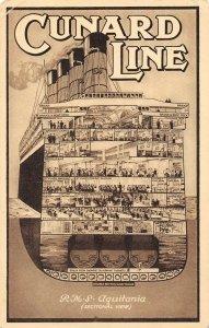 LP43  Ship Vintage PostcardCunard Line Aquitania