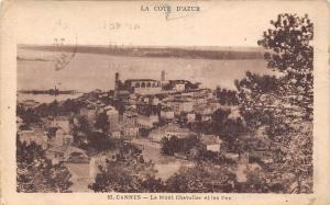 France La Cote d'Azur, Cannes Le Mont Chevalier et les Iles Panorama