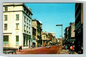 Preston UK-United Kingdom, Fishergate, Chrome Postcard