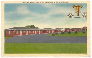 Royston Motel, on U.S. 29, one mile S.W. of Royston, Georgia, PU-1963