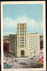 Manitoba ~ WINNIPEG The Federal Building pm1951 PECO - White Border