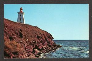 PEI Souris Lighthouse Light Prince Edward Island Postcard Carte Postale Canada
