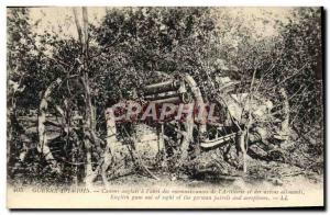 Old Postcard Militaria Canon English has the & # 39abri recognitions of & # 3...