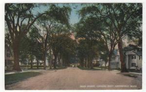 Greenfield, Massachusetts,  View of Main Street Looking East, 1916