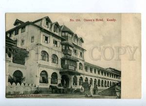 190937 CEYLON KANDY Queens Hotel Vintage postcard