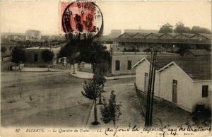 CPA AK BIZERTE Le Quartier du Train TUNISIE (748151)