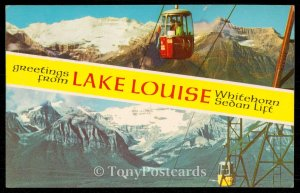 Greetings from LAKE LOUISE Whitehorn Sedan Lift