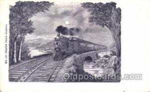 Empire State Express Train Trains Locomotive, Steam Engine,  Postcard Postcar...