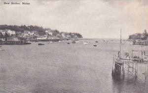 Maine Damariscotta New Harbor Albertype
