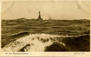 USS New Hampshire,1916- Maneuvering around Block Island, Newport, Rhode Islan...